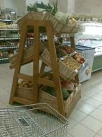 Стеллаж для овощей и фруктов двусторонний.